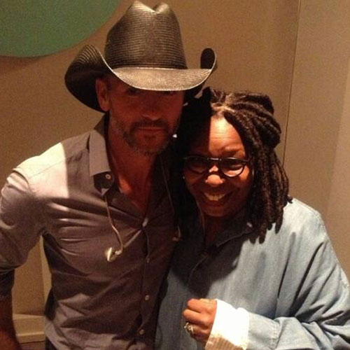 Whoopi with Tim McGraw