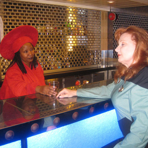 Bettina as Guinan on Star Trek Cruise